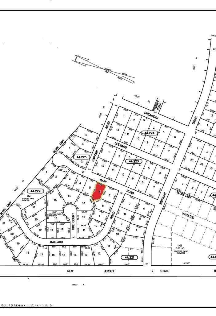 Land for Sale at 216 Gaff Road Manahawkin, New Jersey 08050 United States