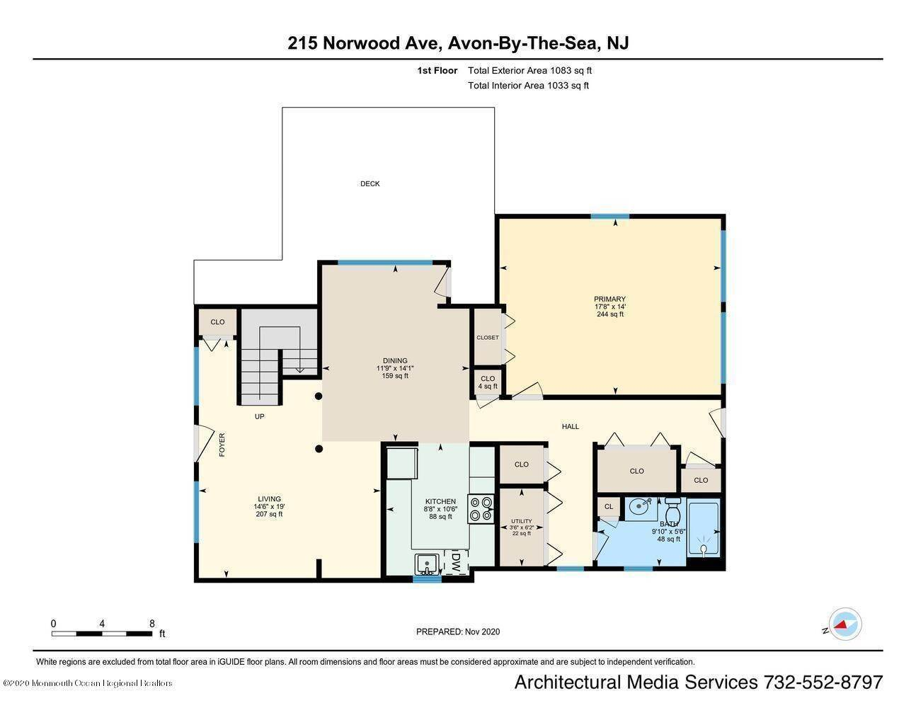 28. Single Family Homes for Sale at 215 Norwood Avenue Avon by the Sea, New Jersey 07717 United States
