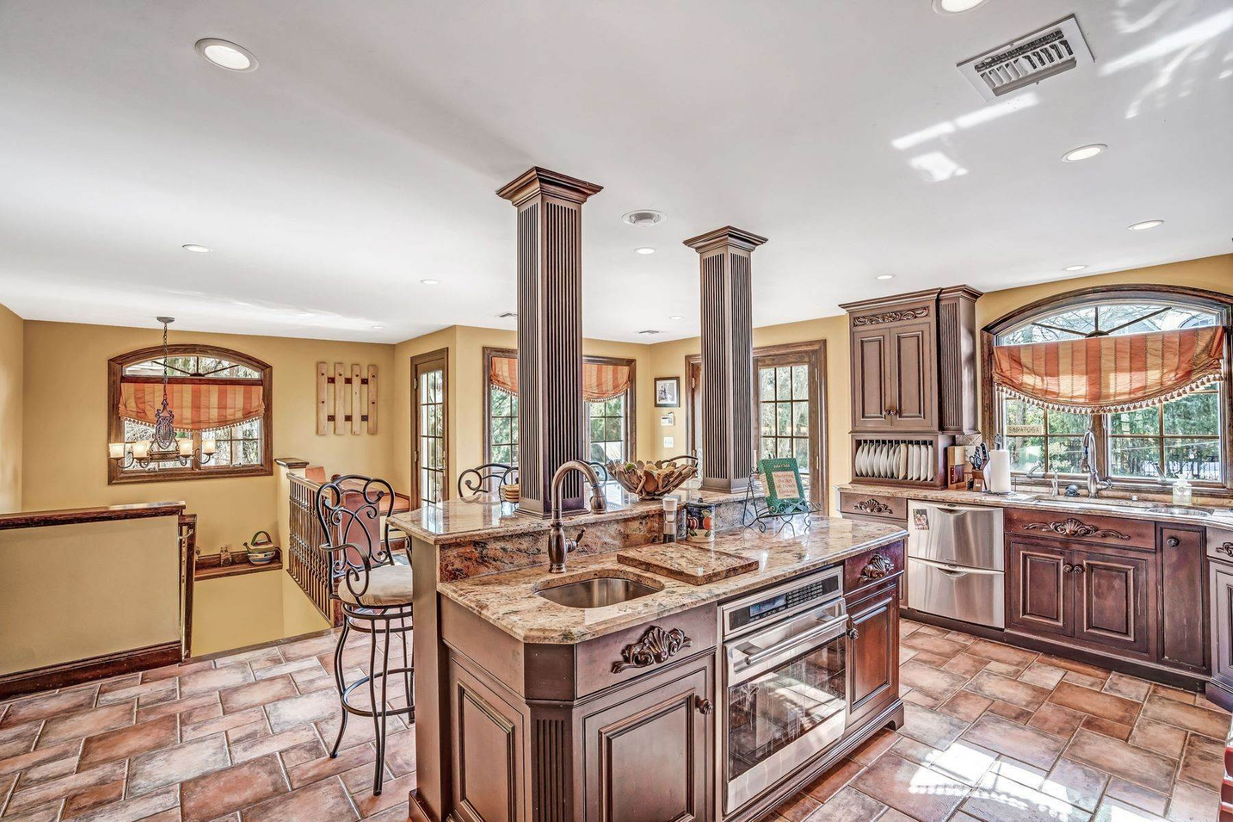 32. Single Family Homes for Sale at Strikingly Beautiful Home 31 Worthington Avenue Spring Lake, New Jersey 07762 United States