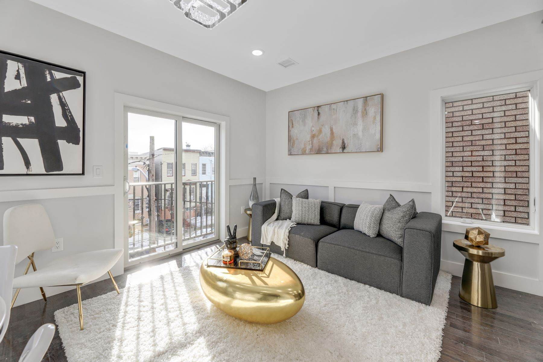 Condominiums for Sale at Welcome home to this brand new constructed 3 bed/ 2.5 bath. 66 Poplar Street, Unit 4 Jersey City, New Jersey 07307 United States
