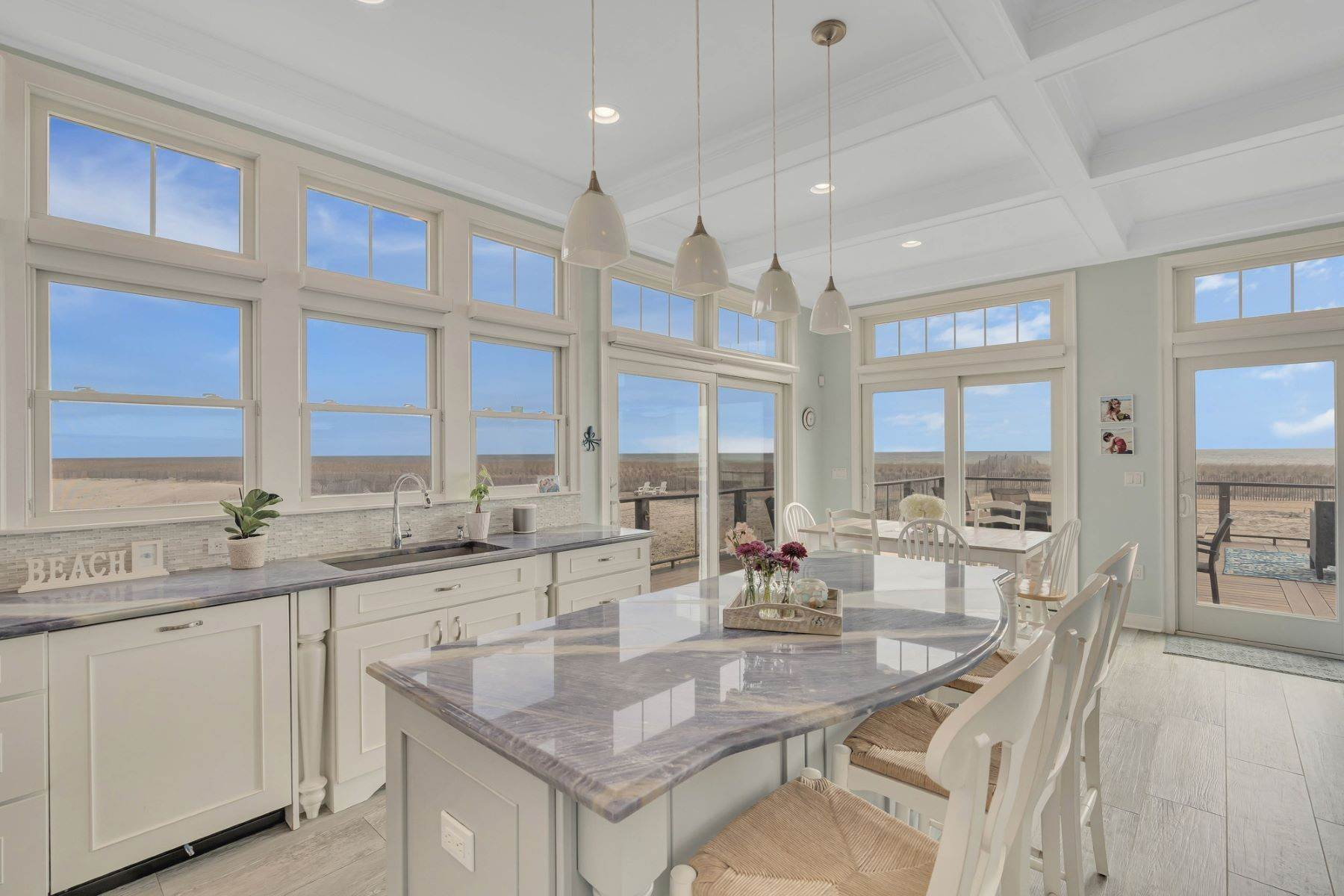 11. Single Family Homes for Sale at Truly Spectacular Oceanfront Home Is Exquisitely Designed 100 Lyndhurst Drive Mantoloking, New Jersey 08738 United States