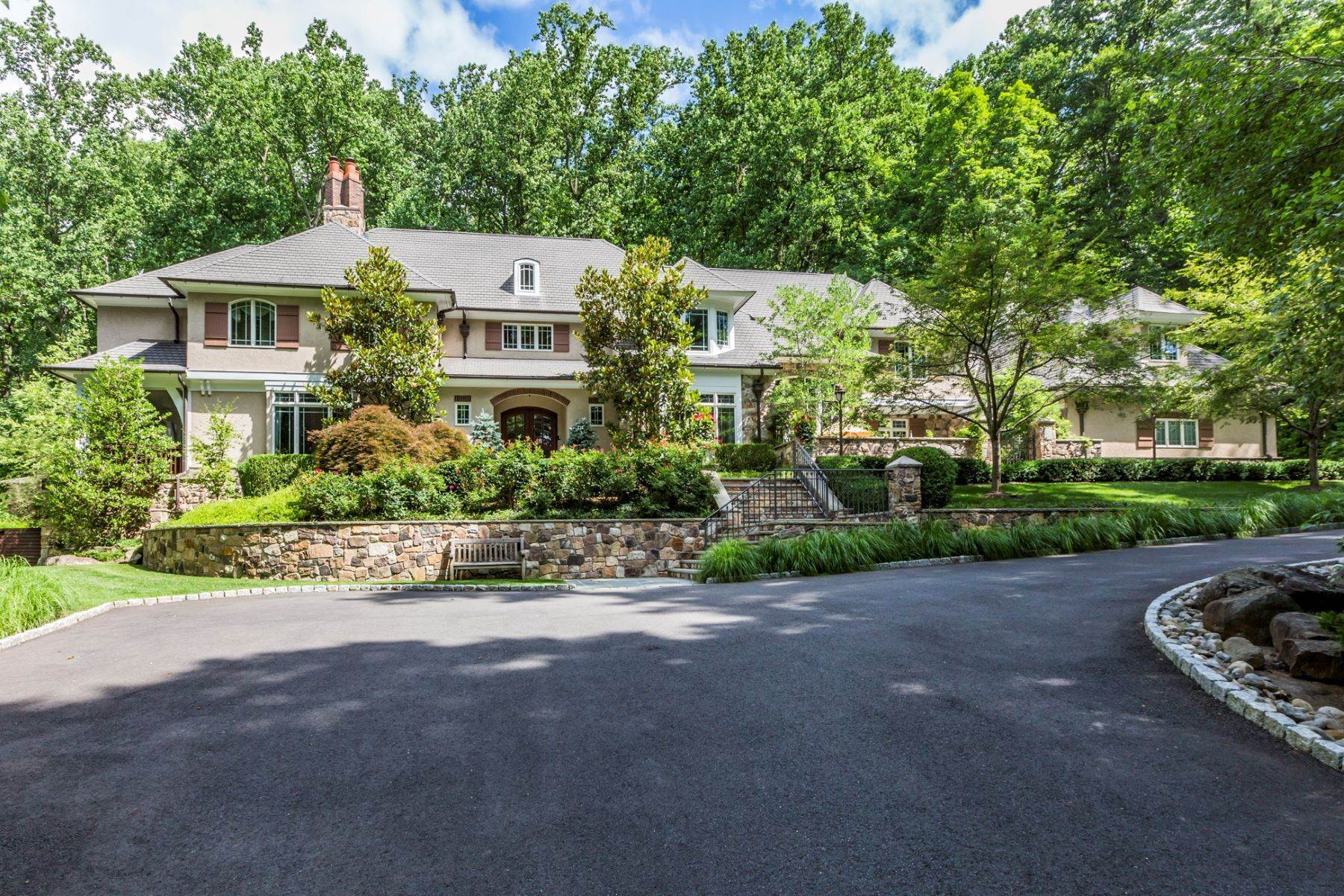 Single Family Homes for Sale at Spectacular Sanctuary 44 Cradle Rock Road Princeton, New Jersey 08540 United States