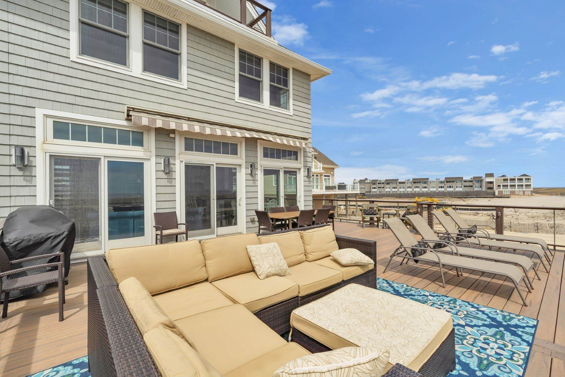 33. Single Family Homes for Sale at Truly Spectacular Oceanfront Home Is Exquisitely Designed 100 Lyndhurst Drive Mantoloking, New Jersey 08738 United States