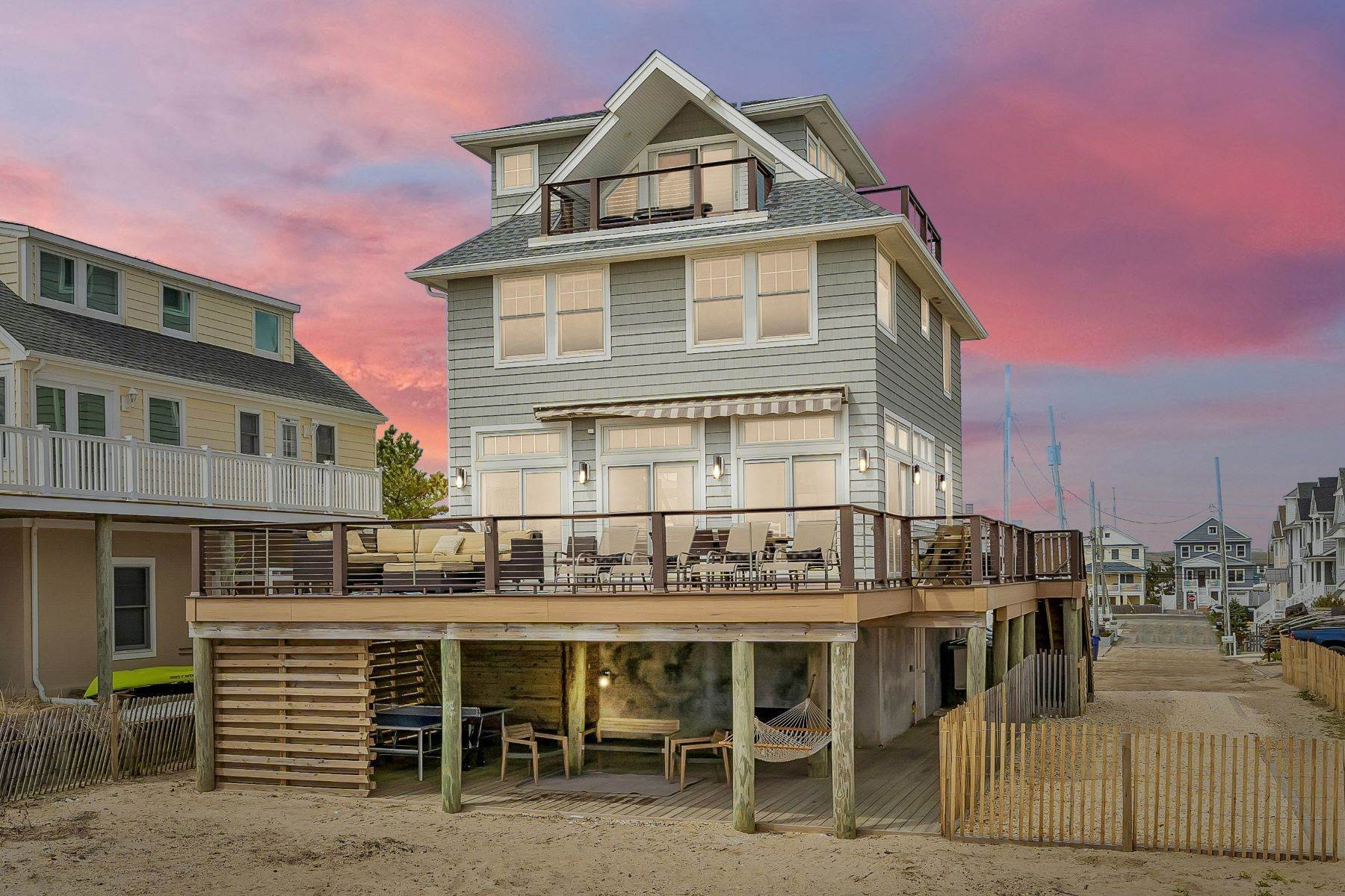Single Family Homes for Sale at Truly Spectacular Oceanfront Home Is Exquisitely Designed 100 Lyndhurst Drive Mantoloking, New Jersey 08738 United States