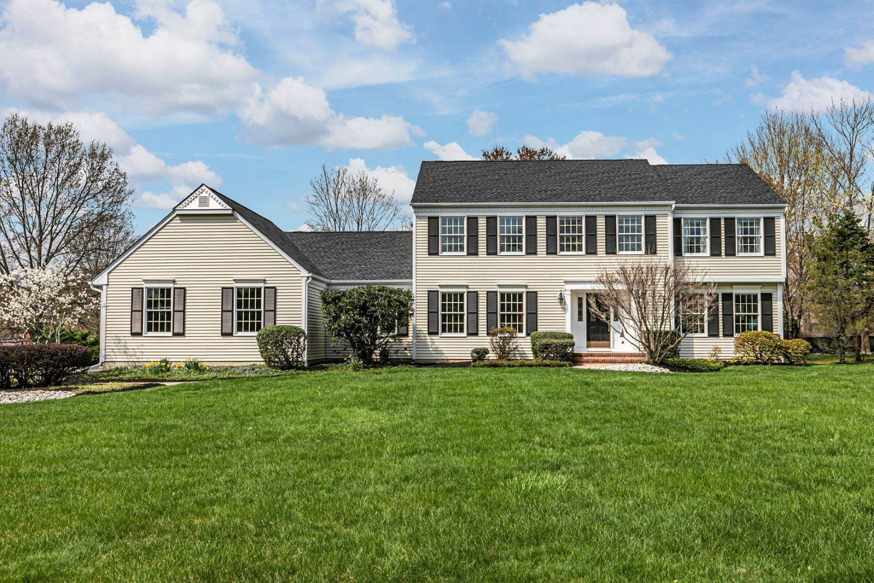 Single Family Homes for Sale at Handsome Colonial In Desired Neighborhood 16 Brandywine Road Skillman, New Jersey 08558 United States